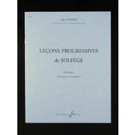 GRIMOIN A. LECONS PROGRESSIVES DE SOLFEGE VOL 1
