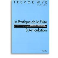 WYE T. LA PRATIQUE DE LA FLUTE: 3 ARTICULATION