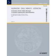 ALBINONI/DALL'ALBACO/VERACINI 2 SONATES BAROQUE ITALIEN FLUTE