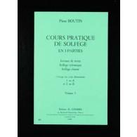 BOUTIN P. COURS PRATIQUE DE SOLFEGE VOL 3