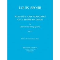 SPOHR L. FANTAISIE ET VARIATION SUR UN THEME DE DANZI  OP 81 CLARINETTE