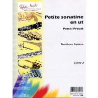 PROUST P. PETITE SONATINE EN UT TROMBONE