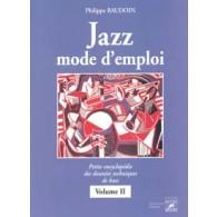 BAUDOIN P. JAZZ MODE D'EMPLOI VOL 2