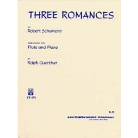 SCHUMANN R. THREE ROMANCES FLUTE