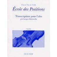 VAN DE VELDE E./BORSARELLO J. ECOLE DES POSITIONS 3ME ALTO