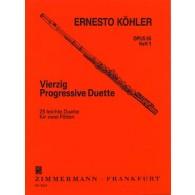 KOHLER E. 25 DUOS PROGRESSIFS OP 55 VOL 1 FLUTES