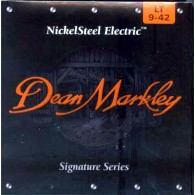 PACK DE 12 JEUX DE CORDES DEAN MARKLEY NICKELSTEEL ELECTRIC LT 9-42