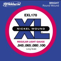 JEU DE CORDES BASSE D'ADDARIO EXL170 XL FILE ROND NICKEL 45-100