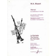 MOZART W.A. MENUET KV334 CLARINETTE