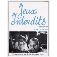 YEPES JEUX INTERDITS GUITARE TABLATURE