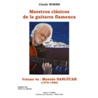 SANLUCAR MANOLO GUITARE FLAMENCA TABLATURE VOL 4A