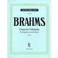 BRAHMS J. DEUTSCHE VOLKSLIEDER VOL 2 CHANT PIANO