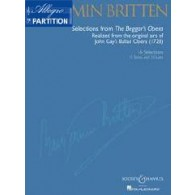 BRITTEN B. SELECTIONS FROM BEGGAR'S OPERA CHANT PIANO