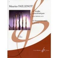 FAILLENOT M. 42 ETUDES CARACTERISTIQUES CLARINETTE