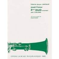 PRANZER J. 4ME DUO CONCERTANT 2 CLARINETTES