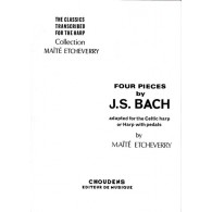 BACH J.S. 4 PIECES HARPE