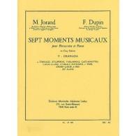 JORAND M./ DUPIN F. 7 MOMENTS MUSICAUX N°5 GRANADA PERCUSSION