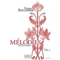 BOULANGER N. MELODIES VOL 2 VOIX MOYENNE