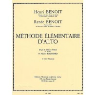 BENOIT H./BENOIT R. METHODE ELEMENTAIRE D'ALTO VOL 1