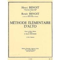 BENOIT H./BENOIT R. METHODE ELEMENTAIRE D'ALTO VOL 1