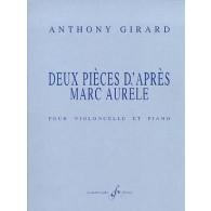 GIRARD A. 2 PIECES D'APRES MARC AURELE VIOLONCELLE