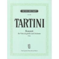 TARTINI G. CONCERTO RE MAJEUR VIOLE DE GAMBE