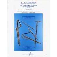 ANDERSEN J. 24 GRANDES ETUDES OP 15 VOL 1 FLUTE