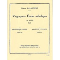 PALASCHKO J. 24 ETUDES MELODIQUES OP 77 ALTO