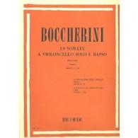 BOCCHERINI L. 19 SONATES VOL 1 VIOLONCELLE
