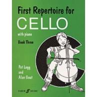 LEGG P./GOUT A. FIRST REPERTOIRE FOR CELLO VOL 3 VIOLONCELLE