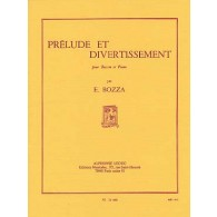 BOZZA E. PRELUDE ET DIVERTISSEMENT SAXO MIB OU CLARINETTE SIB