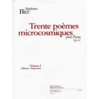 BLET S. POEMES MICROCOSMIQUES OP 41 VOL 1 PIANO