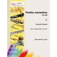 PROUST P. PETIT SONATINE EN UT VIOLONCELLE