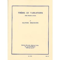 MESSIAEN O. THEME ET VARIATIONS VIOLON