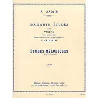 SAMIE A. 60 ETUDES VOL 3 VIOLON