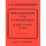 BODIN DE BOISMORTIER J. CONCERTOS VIOLONCELLES