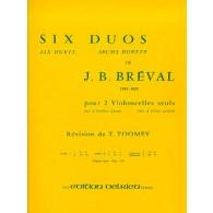 BREVAL J.B. 6 DUOS VOL 3 VIOLONCELLES