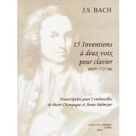 BACH J.S. INVENTIONS 2 VIOLONCELLES