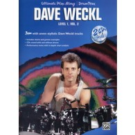 WECKL D. ULTIMATE PLAY ALONG DRUM TRAX LEVEL 1 VOL 2