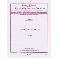 LOEILLET DE GANT GAVOTTE ET MUSETTE VIOLON