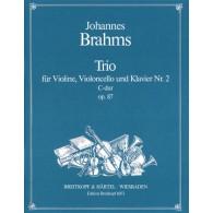 BRAHMS J. KLAVIERTRIO N°2 DO MAJEUR MAJEUR OP 87