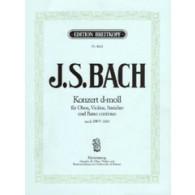 BACH J.S. CONCERTO RE MINEUR HAUTBOIS OU VIOLON, PIANO