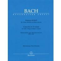 BACH J.S. CONCERTO RE MINEUR BWV 1052 VIOLON