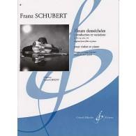 SCHUBERT F. FLEURS DESSECHEES VIOLON