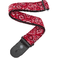 SANGLE PLANET WAVES 50G02 NYLON BANDANA ROUGE