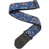 SANGLE PLANET WAVES 50G03 NYLON BANDANA BLEU