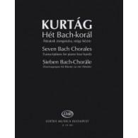 KURTAG G. BACH CHORALES PIANO 4 MAINS