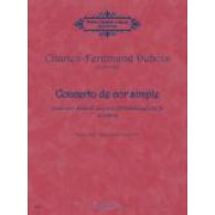 DUBOIS C.F. CONCERTO DE COR SIMPLE