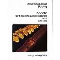BACH J.S. SONATE N°5 BWV 1034 FLUTE