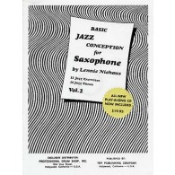 NIEHAUS L. BASIC JAZZ CONCEPTION VOL 2 FOR SAXOPHONE EB